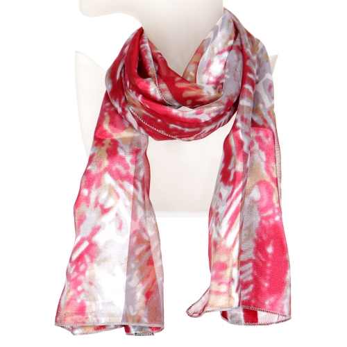 Wholesale O43B Abstract art satin scarf