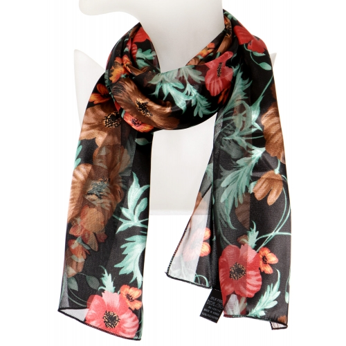 Wholesale O42B Big flower satin scarf