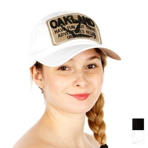 Wholesale R54A Oakland Snapback Cap WHT