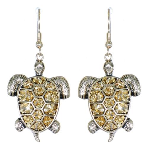 Wholesale L01D Turtle dangling earrings APG