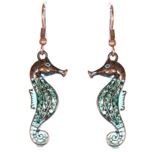 Wholesale L02D Seahorse dangling earrings OG