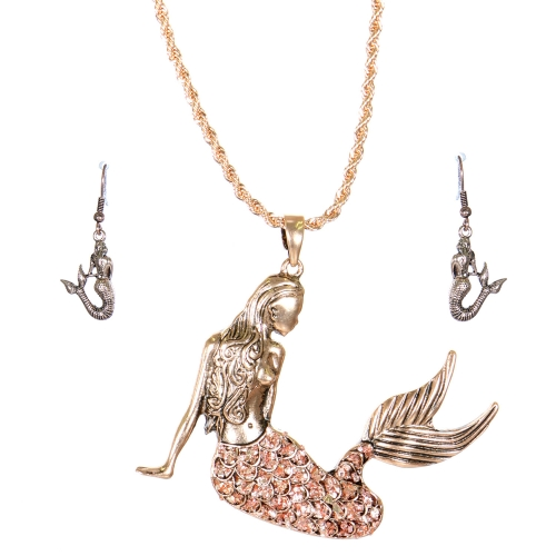 Wholesale L33A Necklace set Mermaid #2 APG