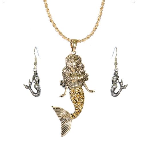 Wholesale L23D Necklace set Mermaid #3 AG
