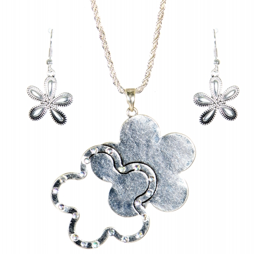Wholesale L31E Floral pendant necklace AS