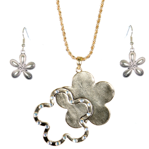 Wholesale L31E Floral pendant necklace AG
