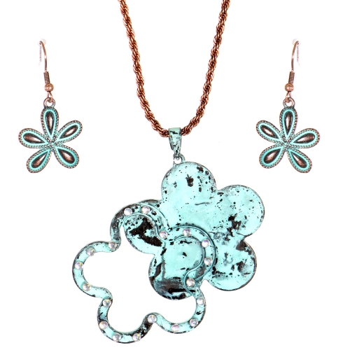 Wholesale L31E Floral pendant necklace OG