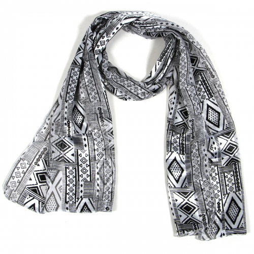 Wholesale O42B Geometric mix satin scarf