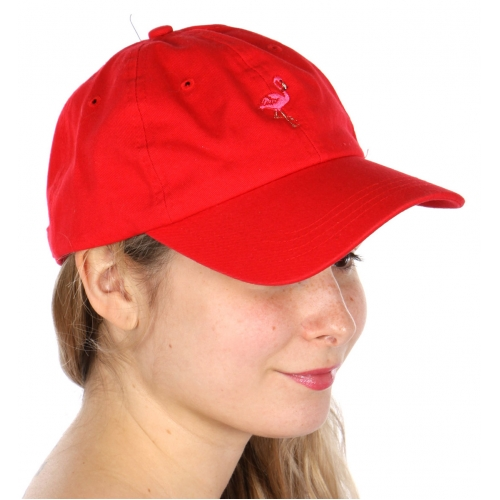 Wholesale V25B New Premium Washed Cotton Flamingo Hat Navy