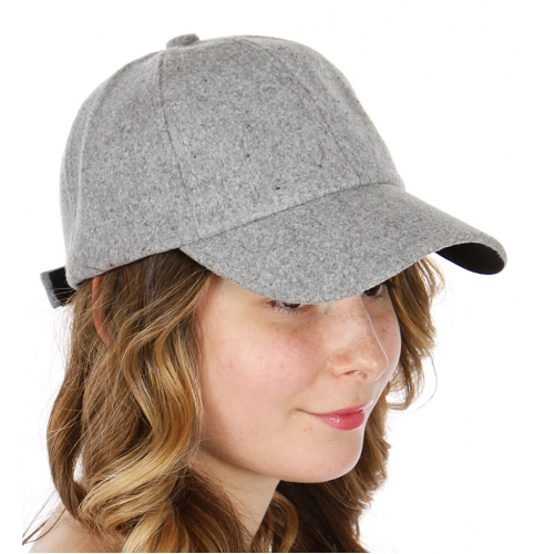 Wholesale R14D Wool-like baseball cap BLK