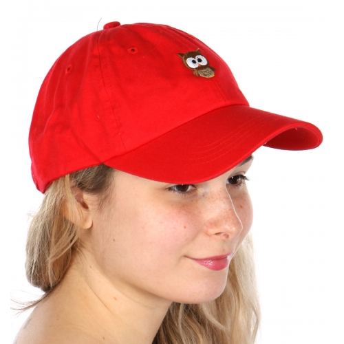 Wholesale V25B New Premium Washed Cotton Owl Hat Navy