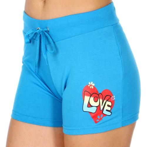 Wholesale Q10C LOVE active shorts Turquoise