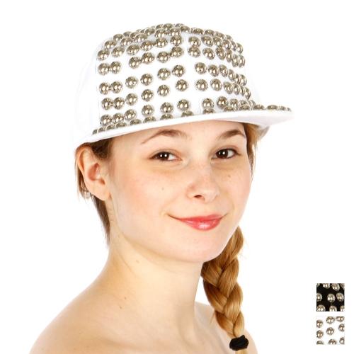 Wholesale T24D Round Stud Hat RDBLK