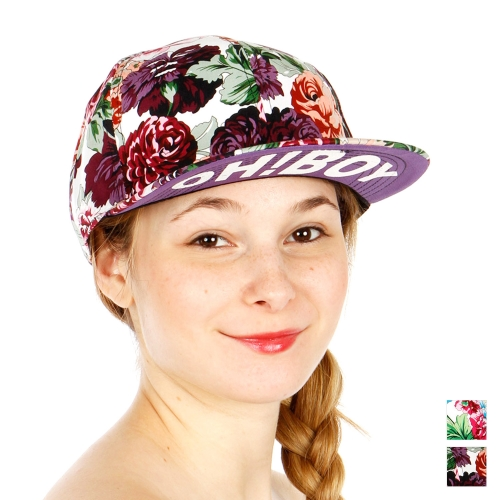 Wholesale R09A Big Floral Oh Boy Snapback Hat WHPUR