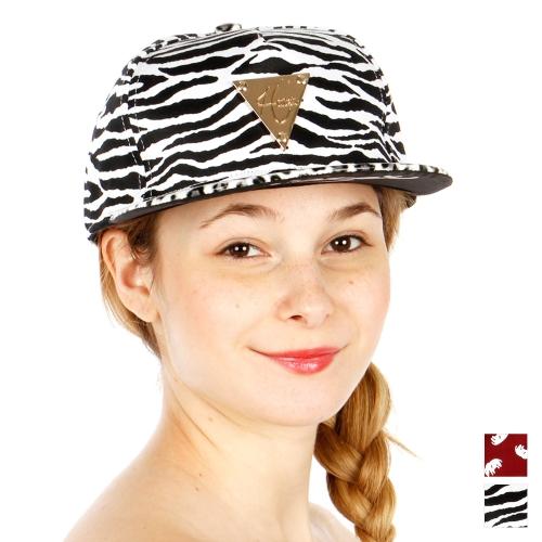 Wholesale S53A Zebra Print Hater Hat BLK