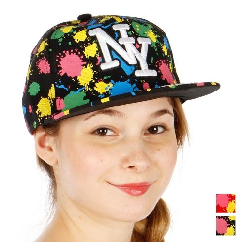 Wholesale R31A NY Paint Splash Hat BKMLT