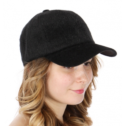 Wholesale Q77C Furry baseball cap BLK
