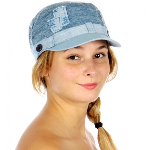 Wholesale P18D Patch Work Cadet Hat BG