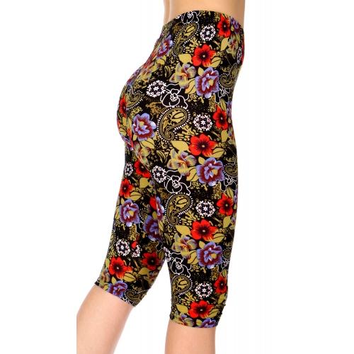 Wholesale C13B Paisley floral capri leggings