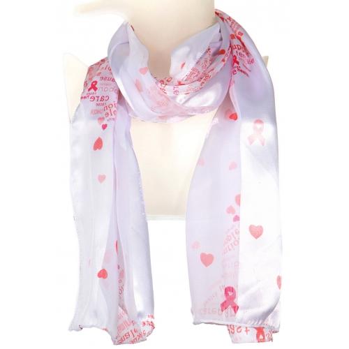 Wholesale G10A Satin stripe scarf pink ribbon BK