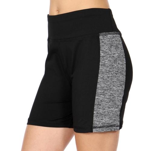 Wholesale C03B Side colorblock active shorts Black