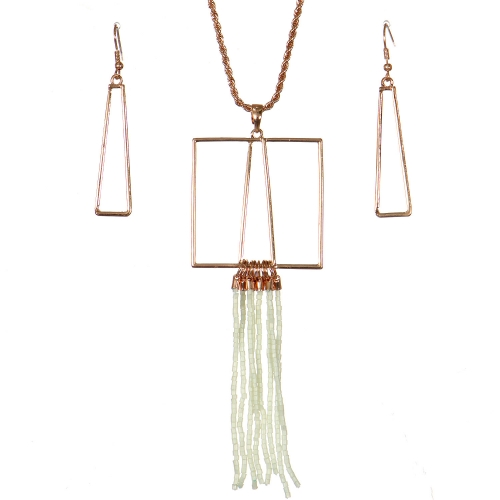 Wholesale WA00 Geometry & tassels necklace set IV