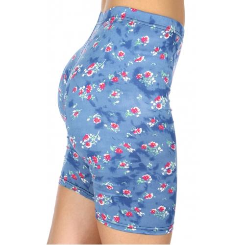 Wholesale C13D Mini wild flower print softbrush bermuda leggings