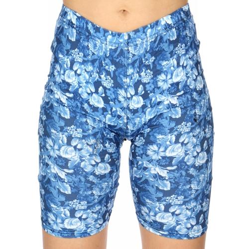 Wholesale C24C Wild garden print softbrush bermuda leggings