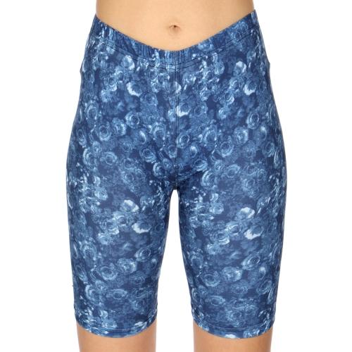 Wholesale C24C Rose mist print softbrush bermuda leggings