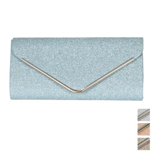 Wholesale P23B Metal trim envelope evening clutch bag