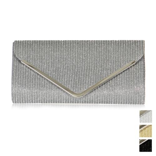 Wholesale P18C Shimmering envelope evening clutch bag