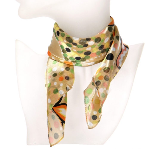Wholesale O31B Polka dots butterfly satin striped 21 X 21 square scarf BE