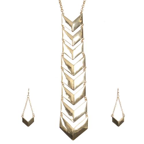 Wholesale L27B Chevron chain pendant necklace set G