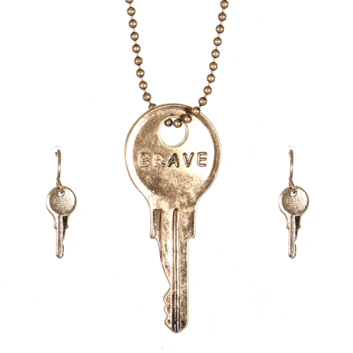 Wholesale WA00 Key pendant necklace set Brave GB