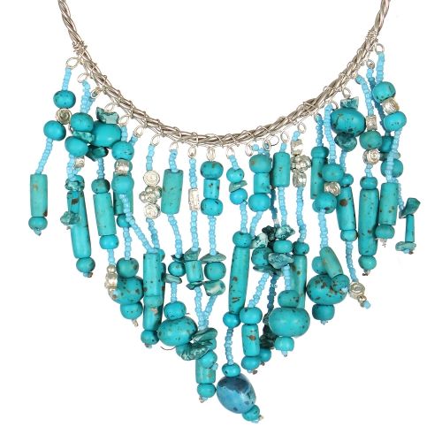 Wholesale WA00 Handmade turquoise statement collar necklace