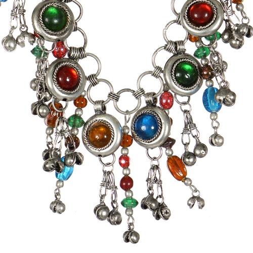 Wholesale WA00 Handmade bead and brass statement necklace SV
