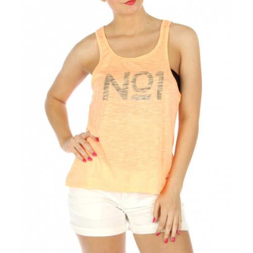 wholesale K63 NO1 print cotton sheer tank White