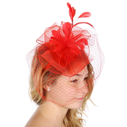 Wholesale V50A Fascinator with curled ribbon