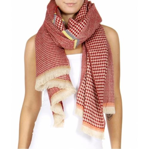 Wholesale R80A Herringbone frayed shawl scarf