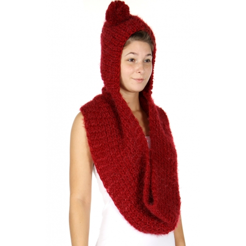 Wholesale R52D Hooded infinity scarf
