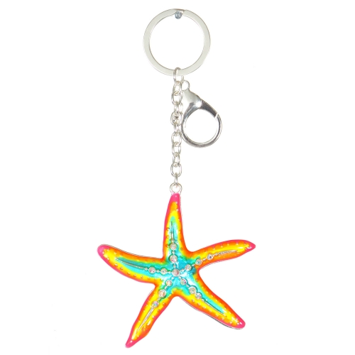 Wholesale WA00 Metal keychain Starfish S