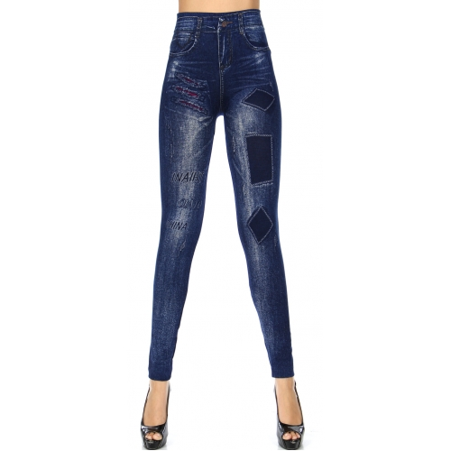 Wholesale R51A Denim print seamless leggings Patches