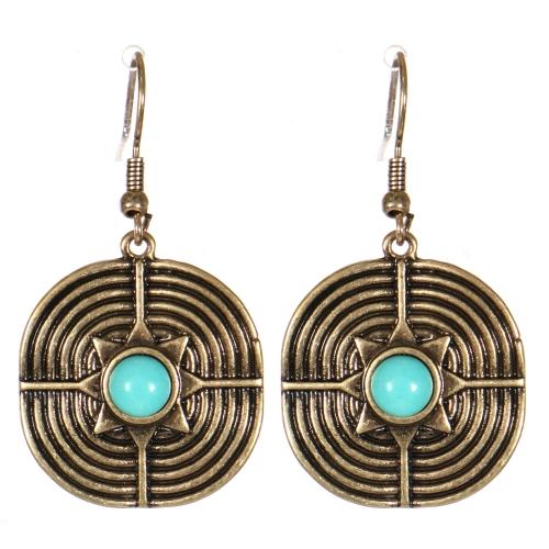 Wholesale M21C Textured metal drop earrings RGB