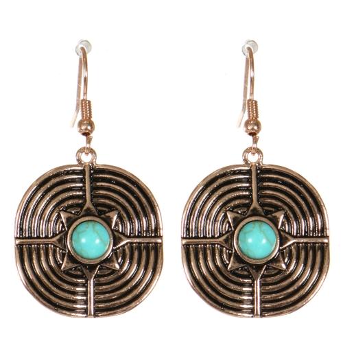 Wholesale M21C Textured metal drop earrings APG