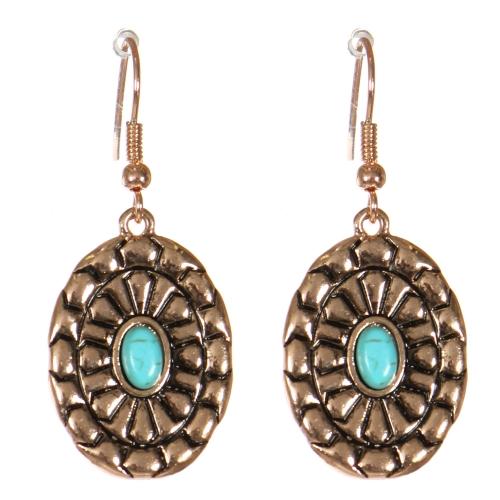 Wholesale M21D Textured oval fish hook earrings APG