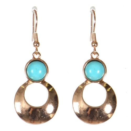 Wholesale M21D Round cut out drop earrings PG