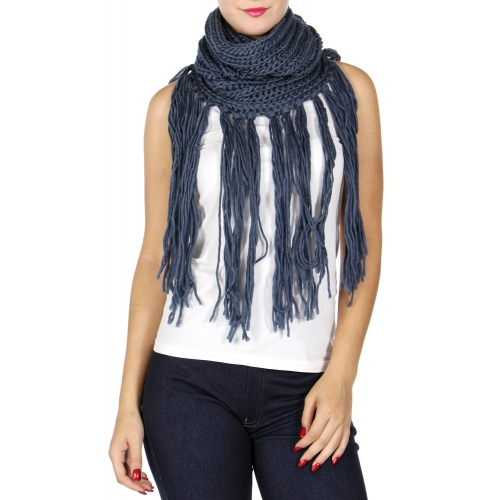 Wholesale Q63C Long tassel infinity scarf