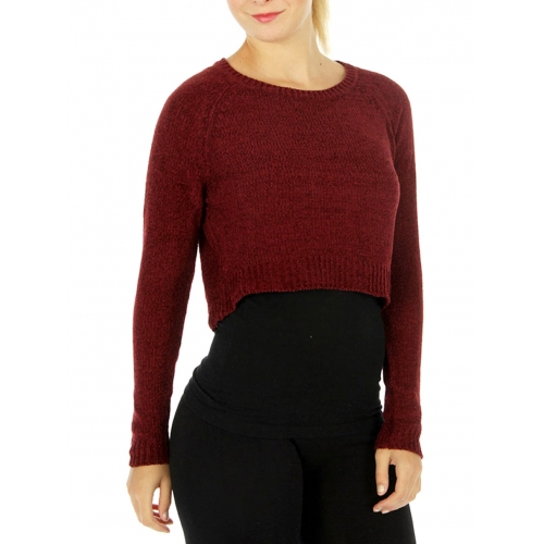 Wholesale S60 Crew neck cropped sweater Black