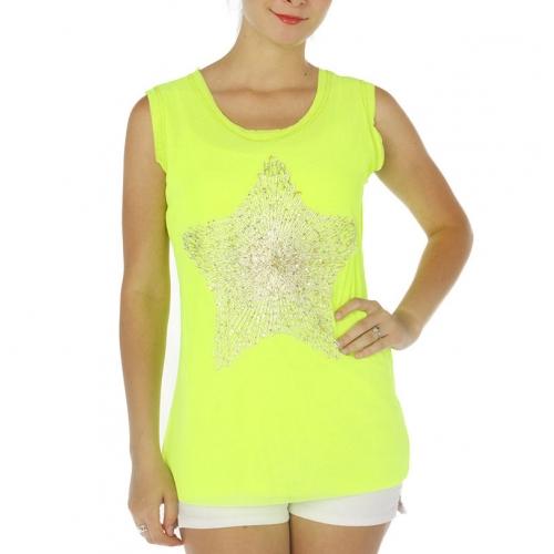 wholesale G36 Metallic sequin star top Green fashionunic