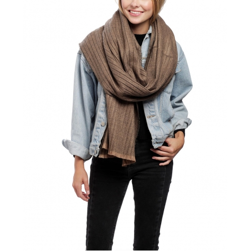Wholesale Q01C Oversized pleated scarf