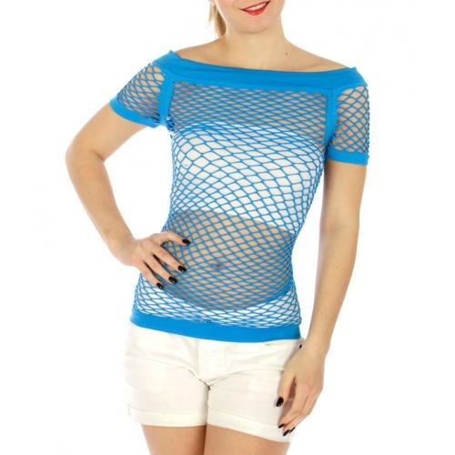 Wholesale WA00 Cap sleeve fishnet top Black